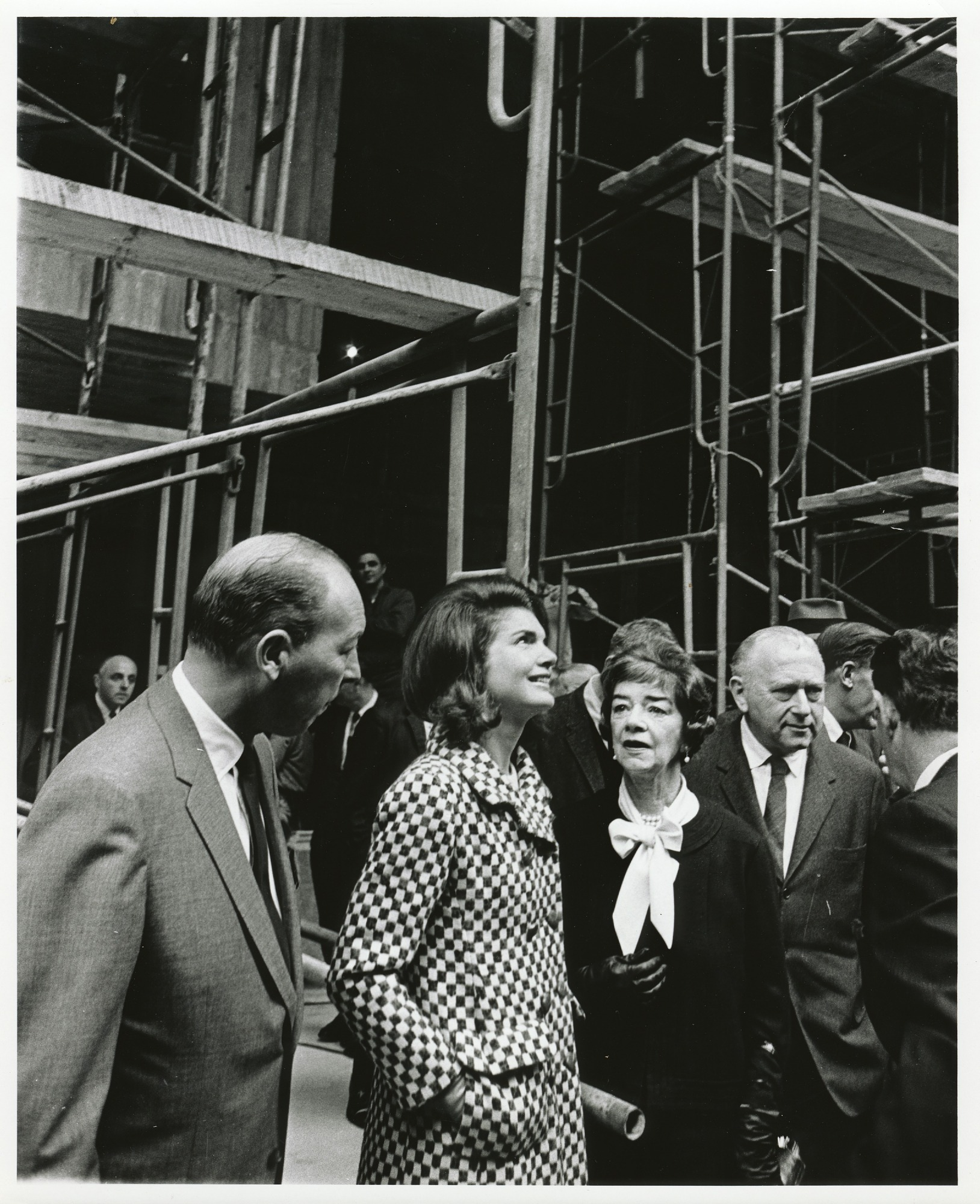 images for Marcel Breuer and Jacqueline Kennedy touring the construction of the Whitney Museum of American Art