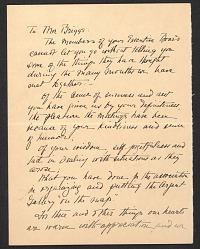 Josephine Vermilye letter to Berta N. (Berta Nabersberg) Briggs