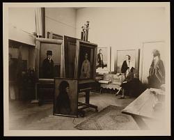 Romaine Brooks with her work