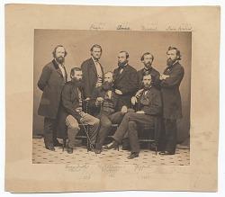 Portrait of eight American artists.