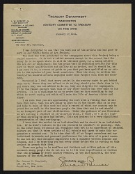 Edward Bruce, Washington, D.C. letter to George Constant, New York, N.Y.