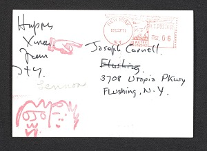 images for John Lennon and Yoko Ono Christmas card to Joseph Cornell-thumbnail 2