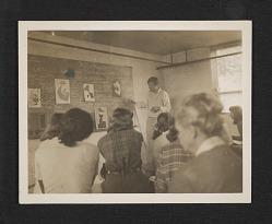 Robert Motherwell teaching at Black Mountain Rock