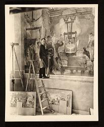 Arthur Sinclair Covey painting mural for Kohler Company