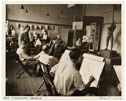 Allyn Cox teaching an Art Students League class