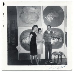 Allyn Cox conducting a tour of his studio
