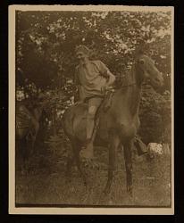 Hervey White on horseback