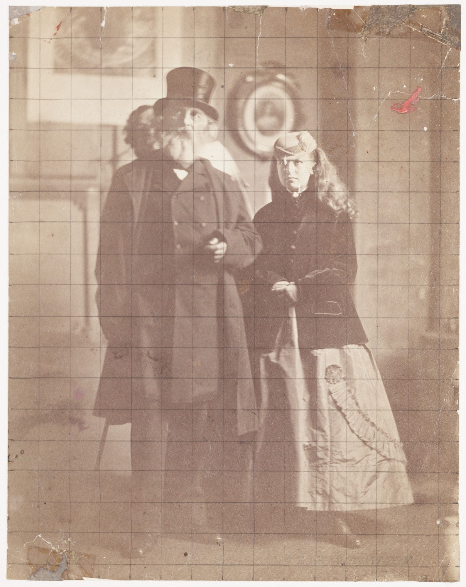 images for Henry Wadsworth Longfellow and his daughter, Edith