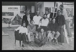 Postcard for AFRICOBRA: the First Twenty Years at Nexus Contemporary Art Center, Atlanta, GA