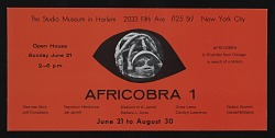 Flyer for AFRICOBRA I: Ten in Search of a Nation at the Studio Museum in Harlem
