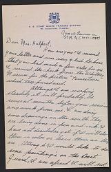 Jacob Lawrence letter to Edith Gregor Halpert