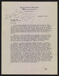 Forbes Watson letter to Olin Dows