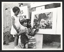 Children's art exhibition sponsored by the Federal Art Project