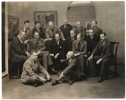 Group of artists at the Rehn Gallery