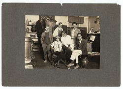 Group of artists in a studio