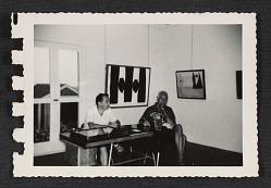 Nathan Halper and Samuel Kootz at the Kootz Gallery in Provincetown, Massachusetts