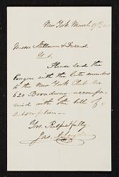James A. Suydam, New York, N.Y. letter to James Stillman