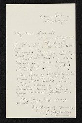 John Quincy Adams Ward, New York, N.Y. letter to Asher Brown Durand