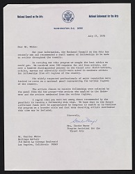 Starke Meyer, Washington, D.C. letter to Charles White, Los Angeles, Calif.