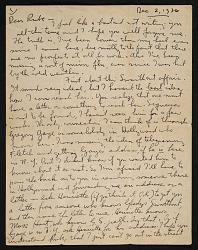 Philip Guston letter to Reuben Kadish