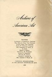 Archives of American Art brochure