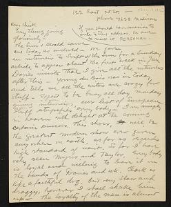 images for Walt Kuhn, New York, N.Y. letter to Vera Kuhn-thumbnail 1