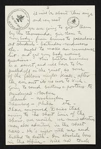 images for Walt Kuhn, New York, N.Y. letter to Vera Kuhn-thumbnail 3