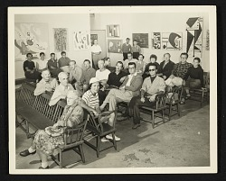 Group photo of the 'Gallery 200' artists in Provincetown, Massachusetts