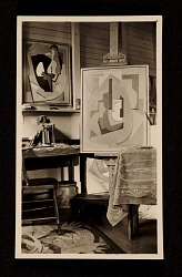 Blanche Lazzell studio, interior, Provincetown, Mass.