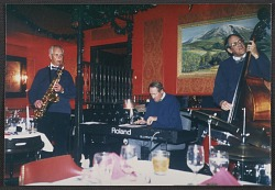 Jazz musicians at Sopris (Colorado) Restaurant