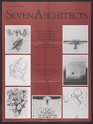 Architecture: Seven Architects exhibition poster