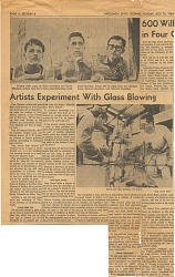 Artists experiment with glassblowing