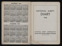 Volume 2, appointment diary