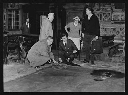 Millard Meiss at work with Committee to Rescue Italian Art