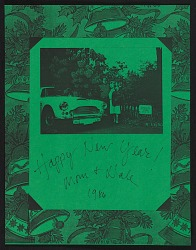 Dale Chihuly Christmas card to the Archives of American Art