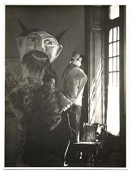 Diego Rivera in his studio