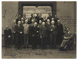 Formal group portrait of artists