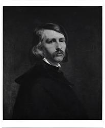 Reproduction of a portrait painting of Emanuel Leutze