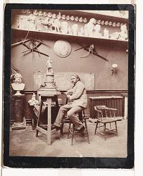 John Quincy Adams Ward in his studio