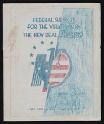 Mock-up of cover for Federal Support for the Visual Arts by Francis V. O'Connor
