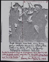 Note about photograph of Ralph Stackpole with Diego Rivera and Frida Kahlo