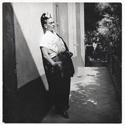 Photograph of Frida Kahlo in Coyoacan, Mexico