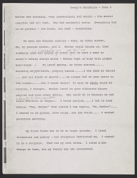 Copy of Betty Parsons' personal narrative