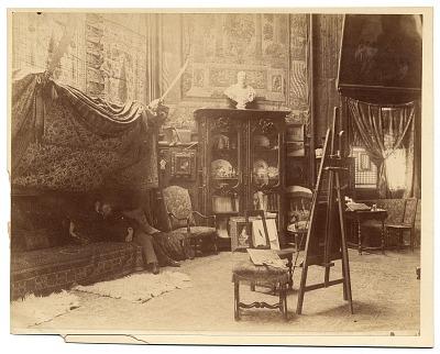 Photographs of artists in their Paris studios, 1880-1890