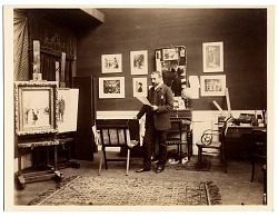 Jean Beraud in his studio