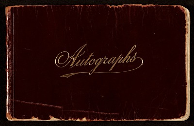 James D. Preston autograph book
