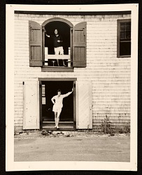 Helen Frankenthaler and Robert Motherwell at their Provincetown studio