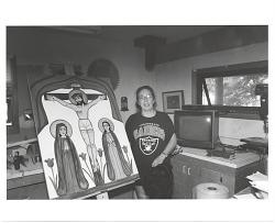 Marie Romero Cash with work
