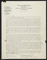 Edward Bruce, Washington, D.C. letter to Olive Rush, Santa Fe, N.M.