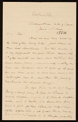 F. W. (Fitzwilliam) Sargent, Cadenabbia, Italy letter to Thomas Sargent
